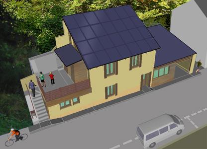 Maison Solaire Batiment Ecologique Energie Positive Passive