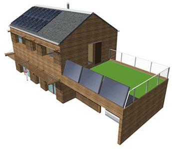 maison solaire batiment ecologique energie positive passive bepos bepas bbc enr hqe. Black Bedroom Furniture Sets. Home Design Ideas